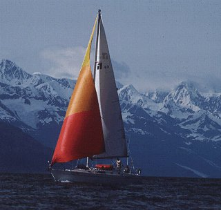 Sailing in Prince William Sound.