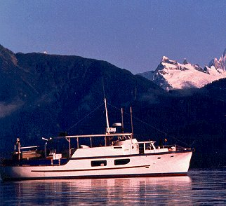 The Heron in dramatic Alaskan landscape.