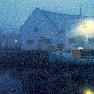 Dusk at a New Brunswick fishing village.
