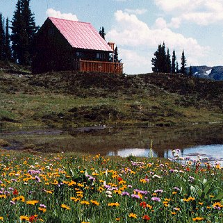 Enjoy the beauty of Wells Backcountry's chalets.
