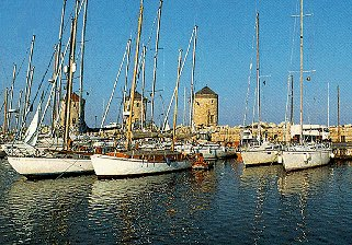 Visit ancient ports on the Mediterranean.