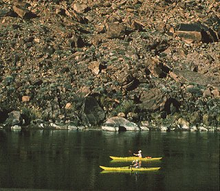 Kayaking on the Green River.