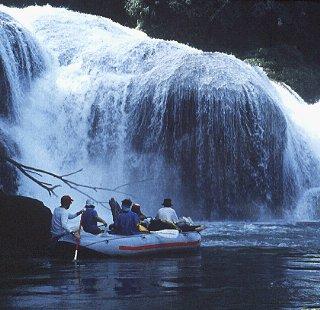 Rafting below falls on the Usumacinta River.