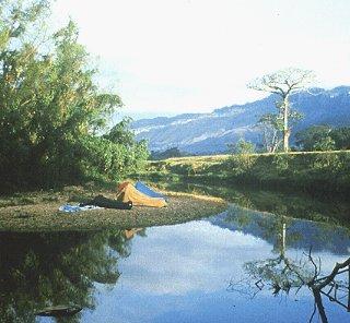 A calm bend of the Jatate River.