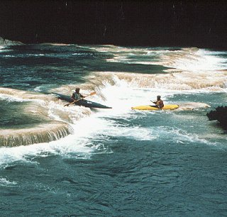 Rafting on the Chancala River.