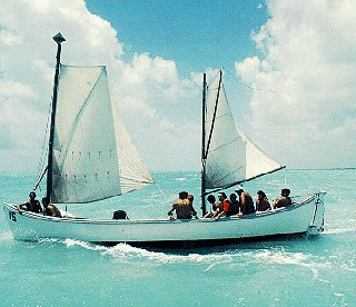 Sailing off the Florida Keys.
