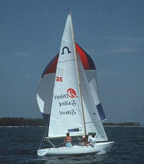 Sailing lesson at Offshore Sailing School.