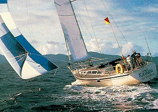 Sailing in the Virgin Islands.