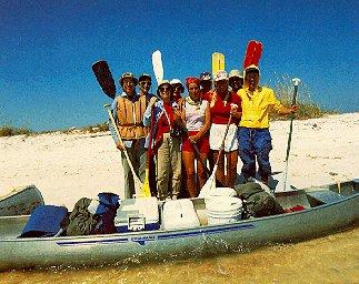 Kayaking off the Florida coast.
