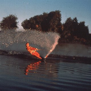 Waterskiing in the Delta.