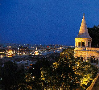 Evening in beautiful Budapest.