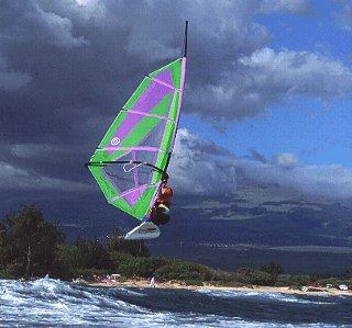 A dramatic windsurfing moment.