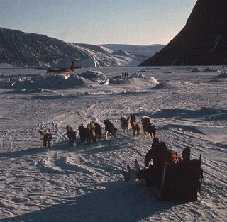 Travel in the traditional style of the Inuit.