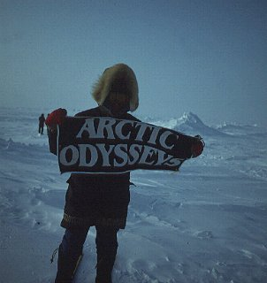 Susan Voorhees at the North Pole.