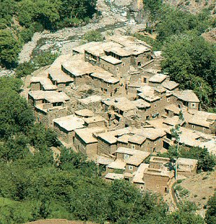 A Berber village in the High Atlas.