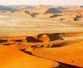 The dunes at Sossusvlei in the Namib Desert.