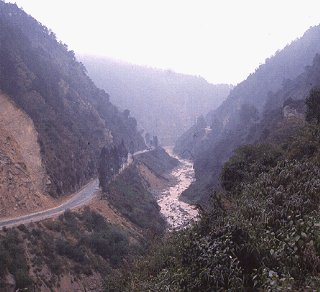A road snakes through Yunnan Province.